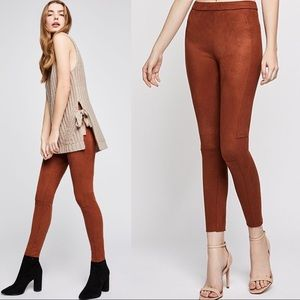 NWT BCBGeneration Brown Faux Suede Skinny Pants